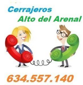 Telefono de la empresa cerrajeros Alto del Arenal